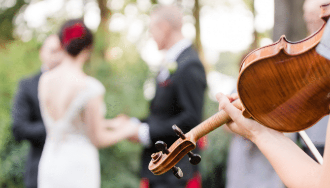 Paris wedding music violin