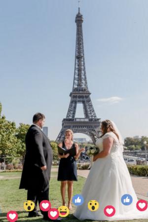 Facebook Live Paris Wedding