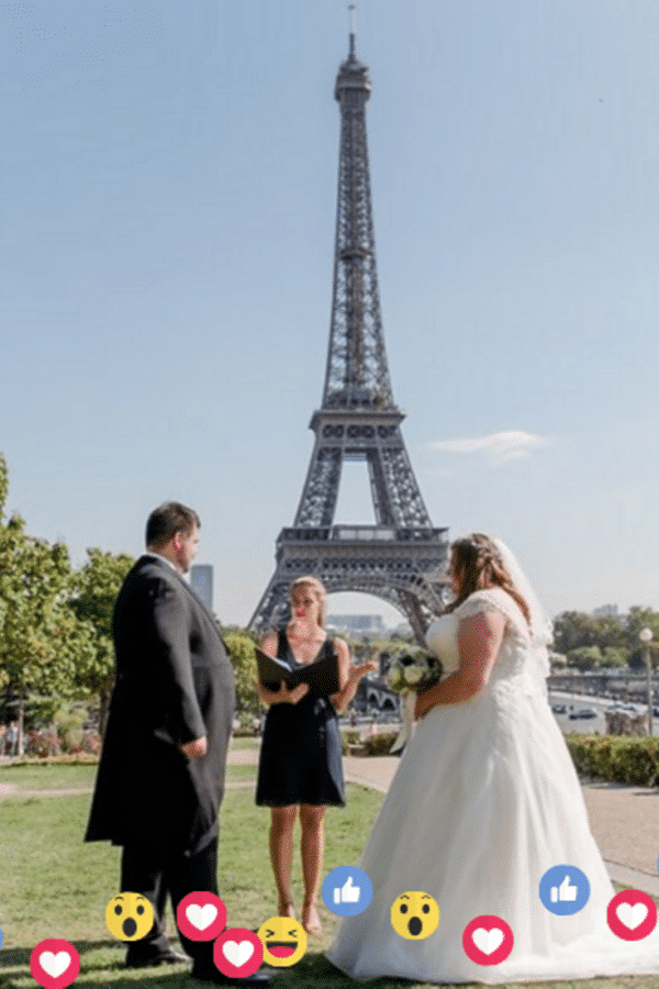 Facebook Live Paris Wedding