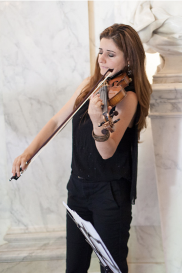 indoor violin paris wedding